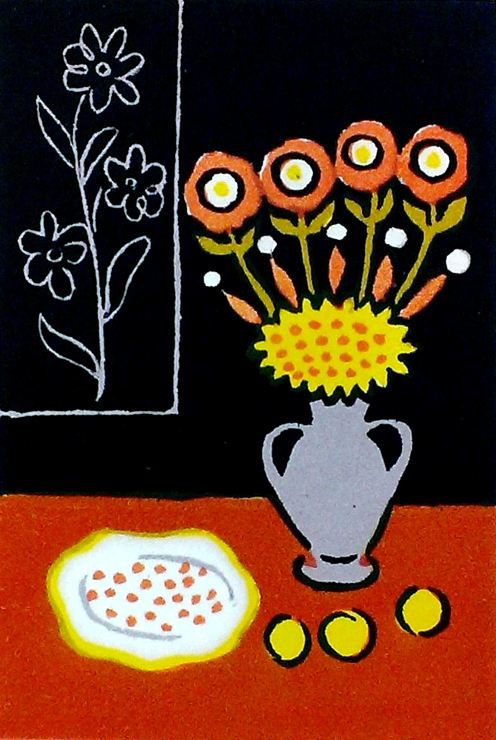 Alexander Vedernikov (Russian, 1898-1975), Untitled (Still Life), ca. 1960, lithograph, 7 x 5 inches. The Art Collection at Hebrew Home at Riverdale.