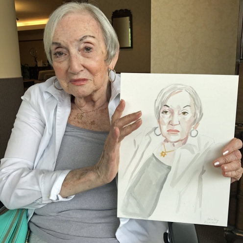 Shirley Zweibel, with Portrait #16