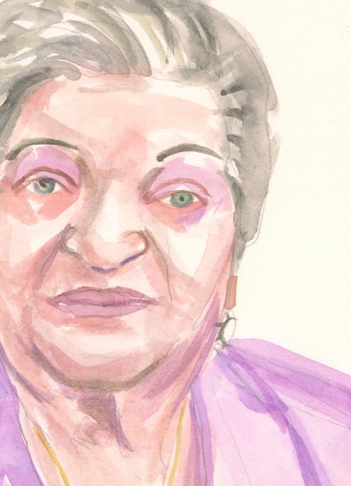 Portrait #71 (Muriel Palley), detail