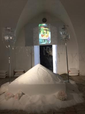 Bruria Finkel (born in Jerusalem, Israel, 1932; lives and works in Santa Monica, CA), Salt Mound, 2017, Mixed media installation, dimensions variable