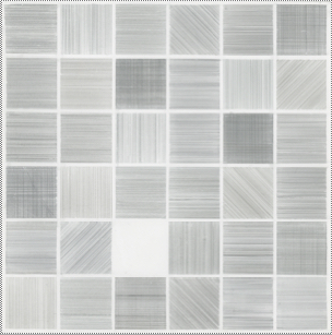 Susan Schwalb (born in New York, 1944; lives and works in New York), Harmonizations #12, 2017, silver/gold/copperpoint on TerraSkin paper, 12 x 12 in.